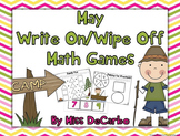 May Write On Wipe Off Math Games and Centers