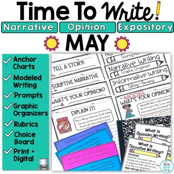 May Writing Prompts: Posters, Models, Rubrics, and Organizers
