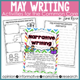 May Writing Activities Aligned to Common Core Standards