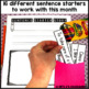 May Writing Activity: Interactive Sentence Starters