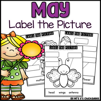 May Writing Activity: Labeling Pictures Using a Word Bank