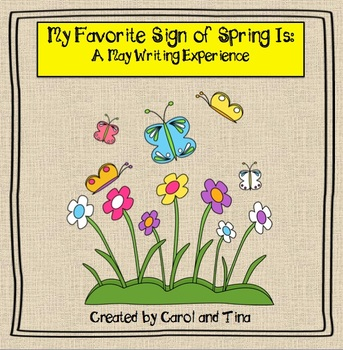 May Writing Activity: My Favorite Sign Of Spring