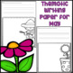 May Writing Activity: Thematic Writing Paper