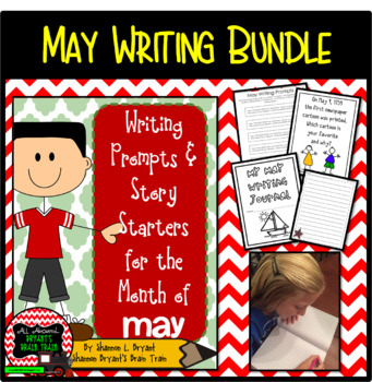 May Writing Bundle (Conversation Starters, Morning Meetings, Journals)