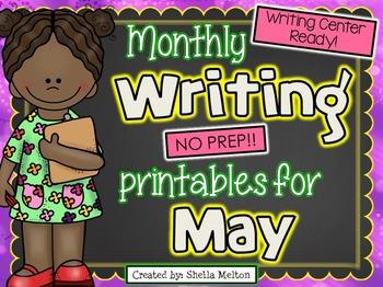 May Writing Center NO PREP Printables