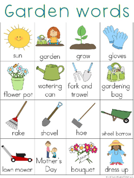 May Writing Center Tools: Garden Words