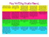 May Writing Choice Board