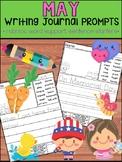 May Writing Journal Prompts -  SET 1 : No Prep, Beginner Writers, Spring