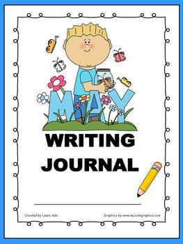 May Writing Journal with 1st and 2nd grade Common Core State Standard Prompts