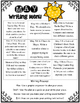 May Writing Menu with Graphic Organizers & Publishing Pape