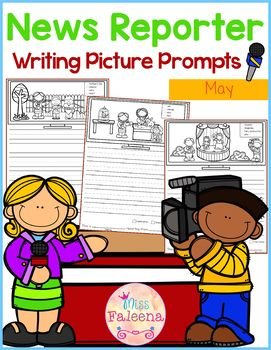 May Writing Picture Prompts - News Reporter
