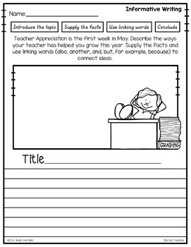 May Writing Prompt Freebie Sample