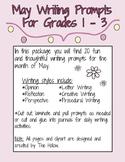 May Writing Prompts Grades 1, 2, 3