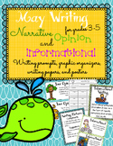 May Writing Prompts, Graphic Organizers, Papers, and Posters
