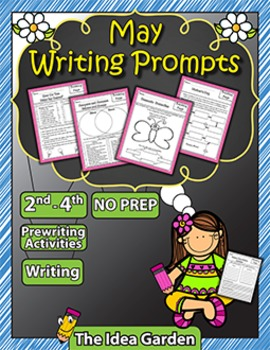 May Writing Prompts NO PREP (Second-Fourth)