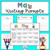 May Writing Prompts: Printable and Digital Google Slides