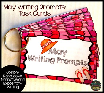 May Writing Prompts: Task Cards
