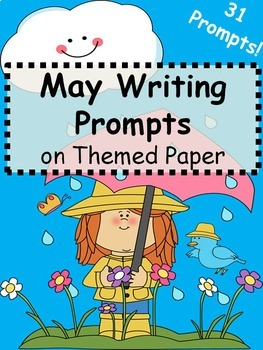 May Writing Prompts on Themed Paper {Just Print & Go!}
