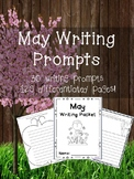 May Writing Prompts on Themed Writing Paper-Differentiated