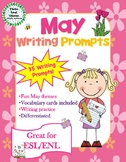 May Writing Prompts with Vocabulary Cards – Great for ESL/ENL