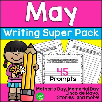 May Writing Super Pack Mother's Day Memorial Day and More