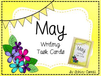 May Writing Task Cards