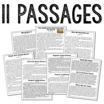 May Writing Test Prep & Paired Passages for Upper Elementary