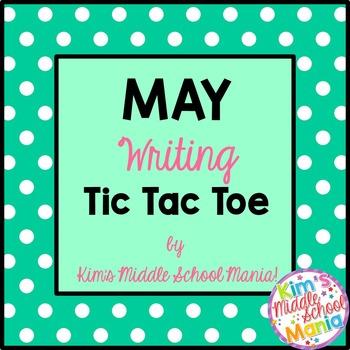 May Writing Tic Tac Toe Choice Board