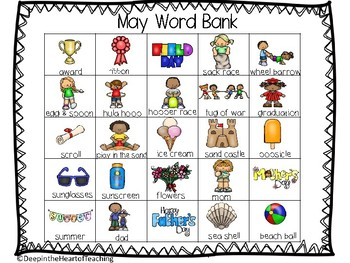 May Writing Word Bank