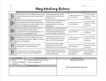 May Writing for Teens: Choice Menu with 40 Prompts and More