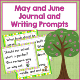 May and June Journal and Writing Prompts