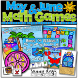 May and June Math Games - Print and Play!