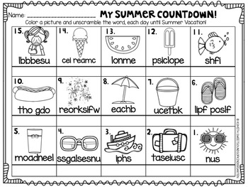 End of the Year Printables {Kindergarten}