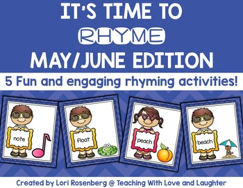 May and June Rhyming Activities