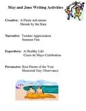 May and June Writing Activities