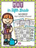 May in Fifth Grade (NO PREP Math and ELA Packet)