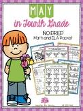 May in Fourth Grade (NO PREP Math and ELA Packet)
