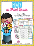 May in Third Grade (NO PREP Math and ELA Packet) - Distanc