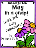 May in a Snap:  No Prep  Printables for Math and Literacy
