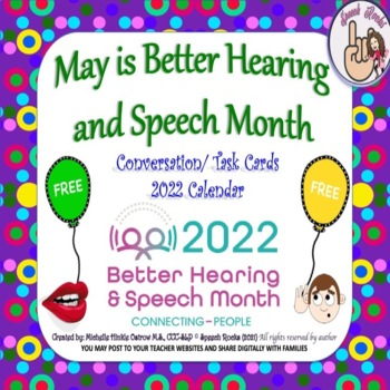 May is Better Hearing and Speech Month Calendar & Activities ~ 2016 {FREEBIE}