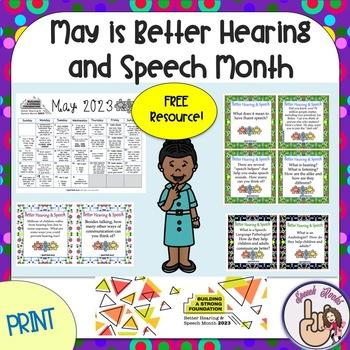 May is Better Hearing and Speech Month Calendar & Activities ~ 2018 {FREEBIE}