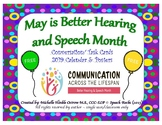 2019 May is Better Hearing and Speech Month: Calendar & Activities ~  {FREEBIE}