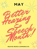 May is Better Hearing and Speech Month - Flyer