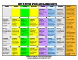 May is Better Speech and Hearing Month - Calendar of School SLP Responsibilities