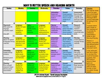 May is Better Speech and Hearing Month - Calendar of Schoo