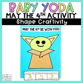May the 4th Be With You - Baby Yoda Shape Craft