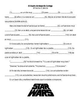 May the 4th Be With You Mad Lib (Spanish)