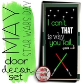 """May the 4th Door Decoration Set:  """"I can't, That is why you fail"""" Star Wars Day"""