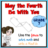 May the Fourth Be With You!   7th grade Math Mad Lib