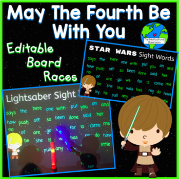 May the Fourth Be With You Editable Board Races